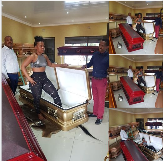 Ahead of her death, S. African lady buys herself 150k brand new coffin