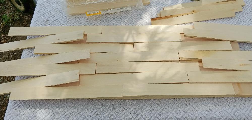 use wood shims to make an address sign