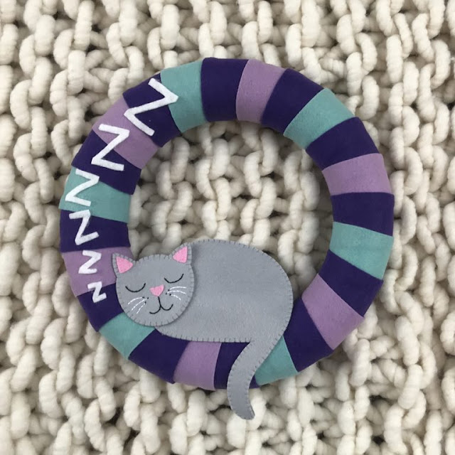 Cat Lady Felt Wreath