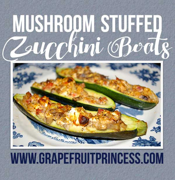 Zucchini Recipe, Mushrooms, Vegetarian, Stuffed Zucchini, easy