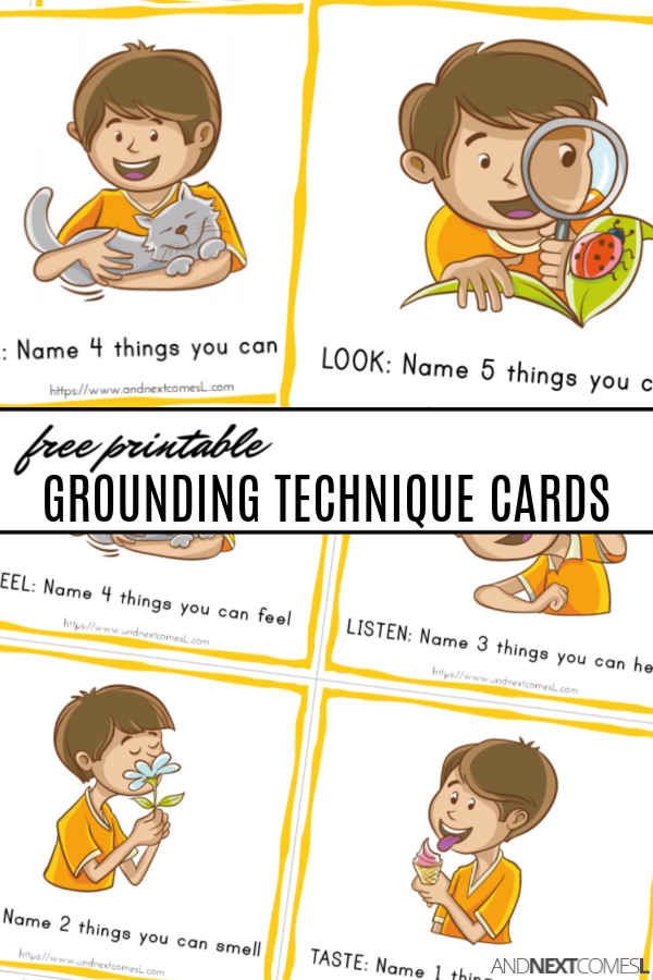 Free Printable Coping Cards for Teaching Grounding