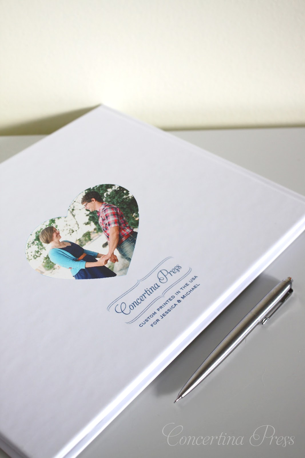 This Cape Cod Guestbook makes a great wedding gift - from Concertina Press