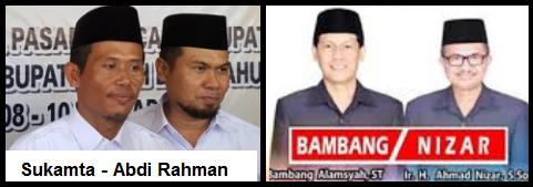 Dua pasang calon Bupati dan wakil Bupati Kabupaten Tanah Laut 2018