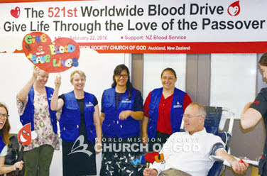 Blood drive in Auckland, New Zealand