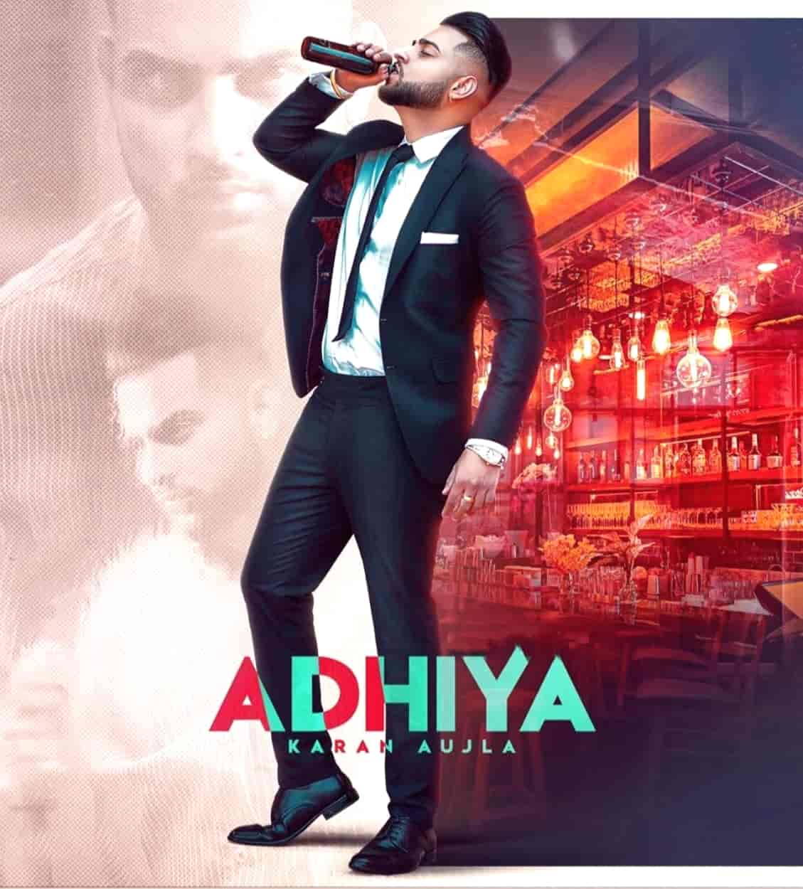 Adhiya Punjabi Song Image Features Karan Aujla