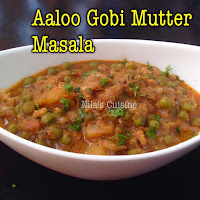 Aaloo Gobi Mutter Gravy / Potato Peas Cauliflower Gravy