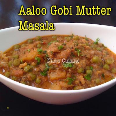 Aaloo Gobi Mutter Gravy / Potato Peas Cauliflower Gravy