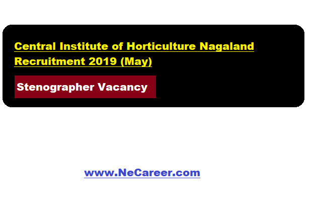 Central Institute of Horticulture Nagaland Recruitment 2019 (May)