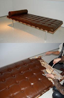 sillón pastel chocolate
