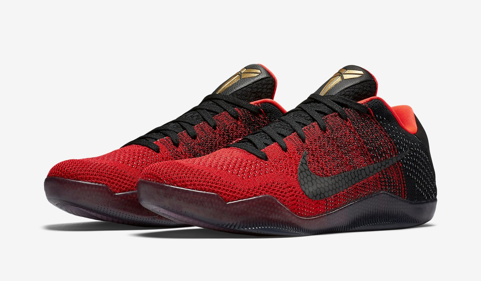 d9febd69e7f7 ... coupon code for nike kobe 11 elite low achilles heel university red  metallic gold black release