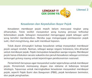 Kunci Jawaban Tematik Kelas 6 Tema 6 Literasi 2 Kesadaran dan Kepedulian Bayar Pajak www.simplenews.me