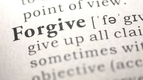 Picture of the words forgive