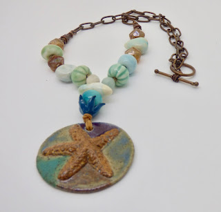 Starfish necklace by BayMoonDesign