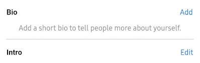 Add Facebook Profile Bio