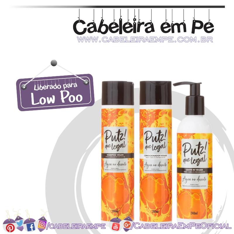 Shampoo, Condicionador e Leave in Água Deserto - Putz! Que Legal (Low Poo)