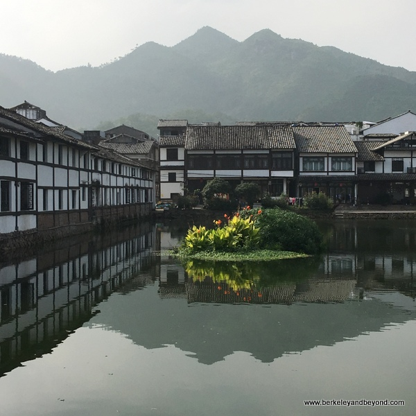 scenic buildings at Cangpo Ancient Village in Yantou Town in Zhejiang Province, Wenzhou, China