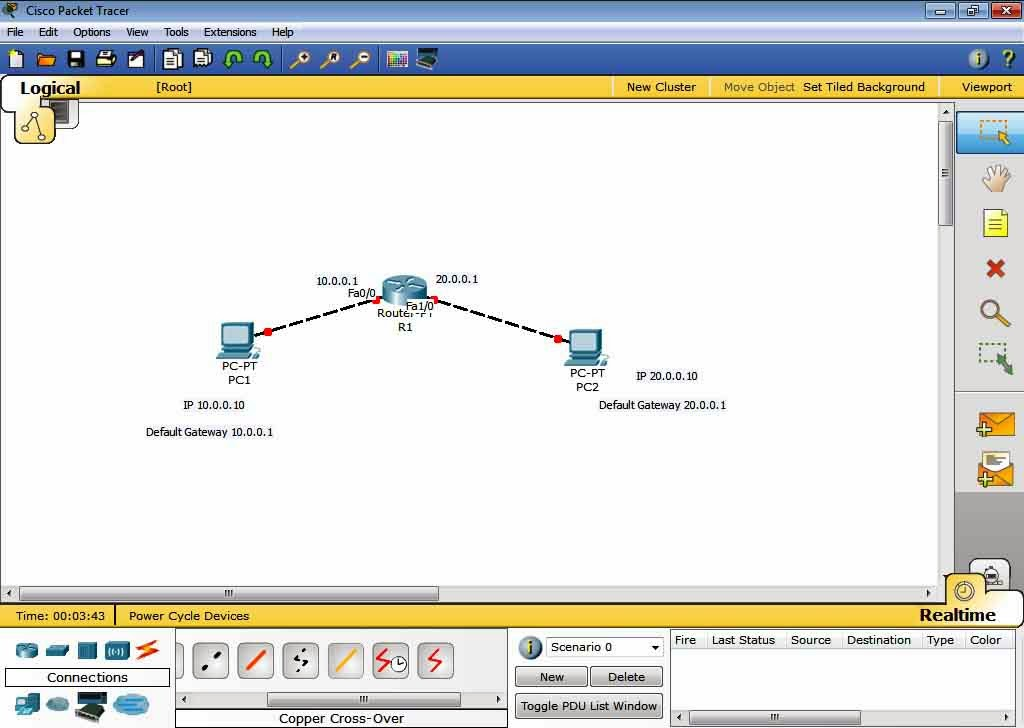 How to Configure Ip address to PC and Routers in Packet Tracer