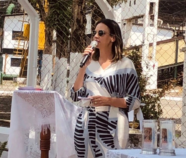 Prefeita Dayse Juliana participa de celebração em ação de graças pelo início da moagem da Usina União e Indústria