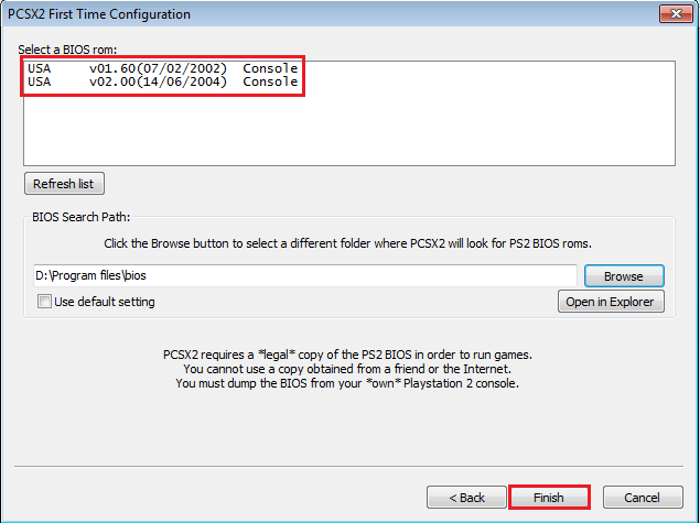 Cara Setting BIOS PCSX2