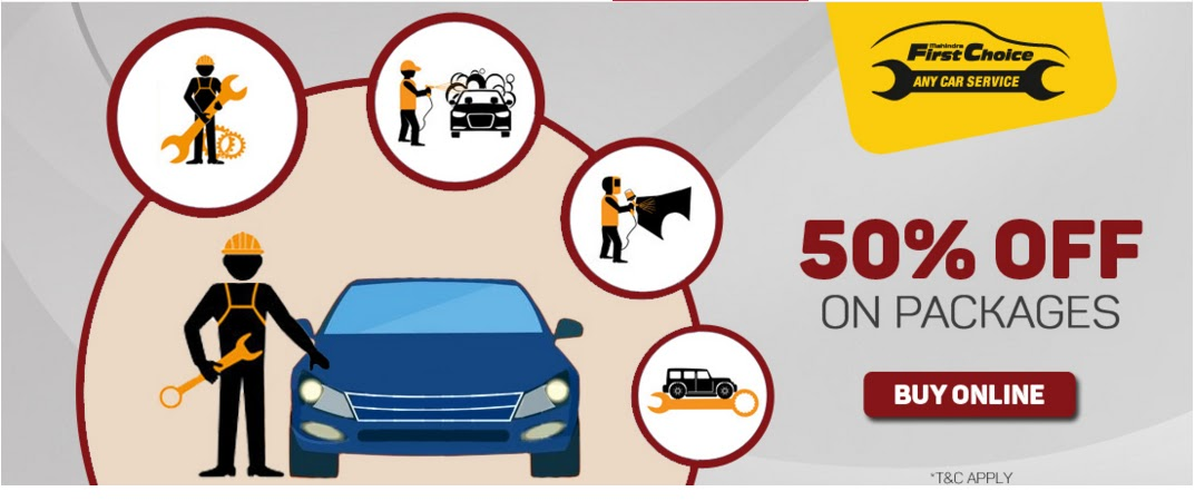 50% off on packages on First Choice any car service | March 2016 discount offer