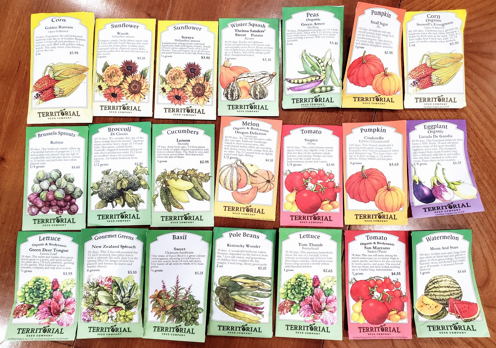 Heirloom seeds from territorial seed company