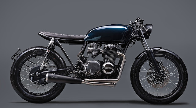 Honda CB550 by Elemental Custom Cycles Hell Kustom