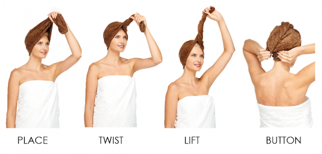 microfibre hair towel wrap fast drying steps