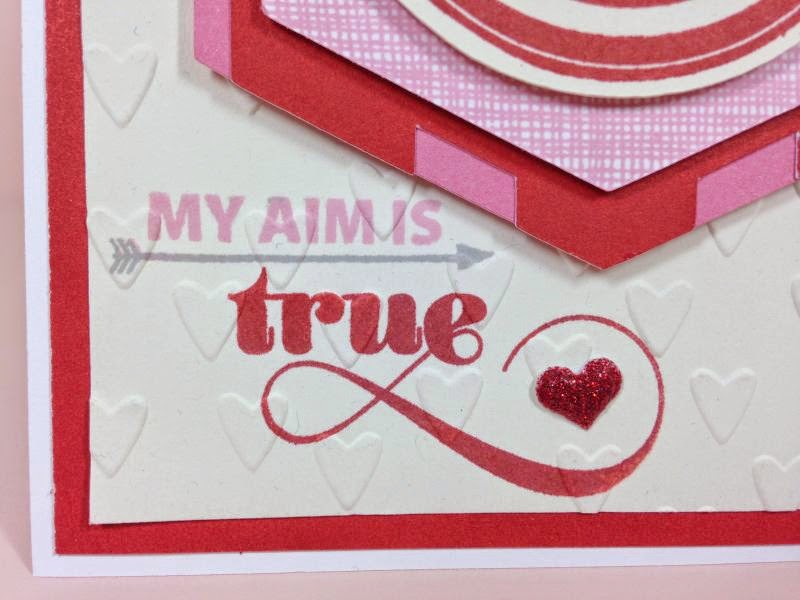 Cricut Bullseye card sentiment closeup