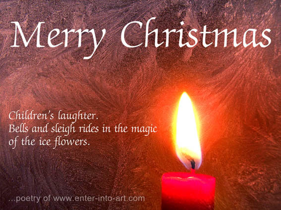 Free download Christmas greeting with haiku poem