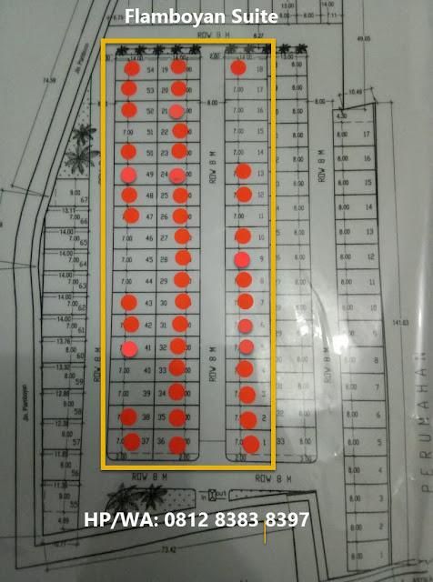 Site Plan Dan Stok Unite Flamboyan Suite Rumah 500 Jutaan Di Tengah Kota Medan Dekat Ke Ring Road Dan Setia Budi