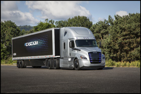 The Freightliner eCascadia electric vehicle