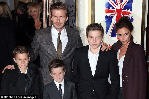 Disorder in paradise! Apparent in the form of an ideal Beckham family