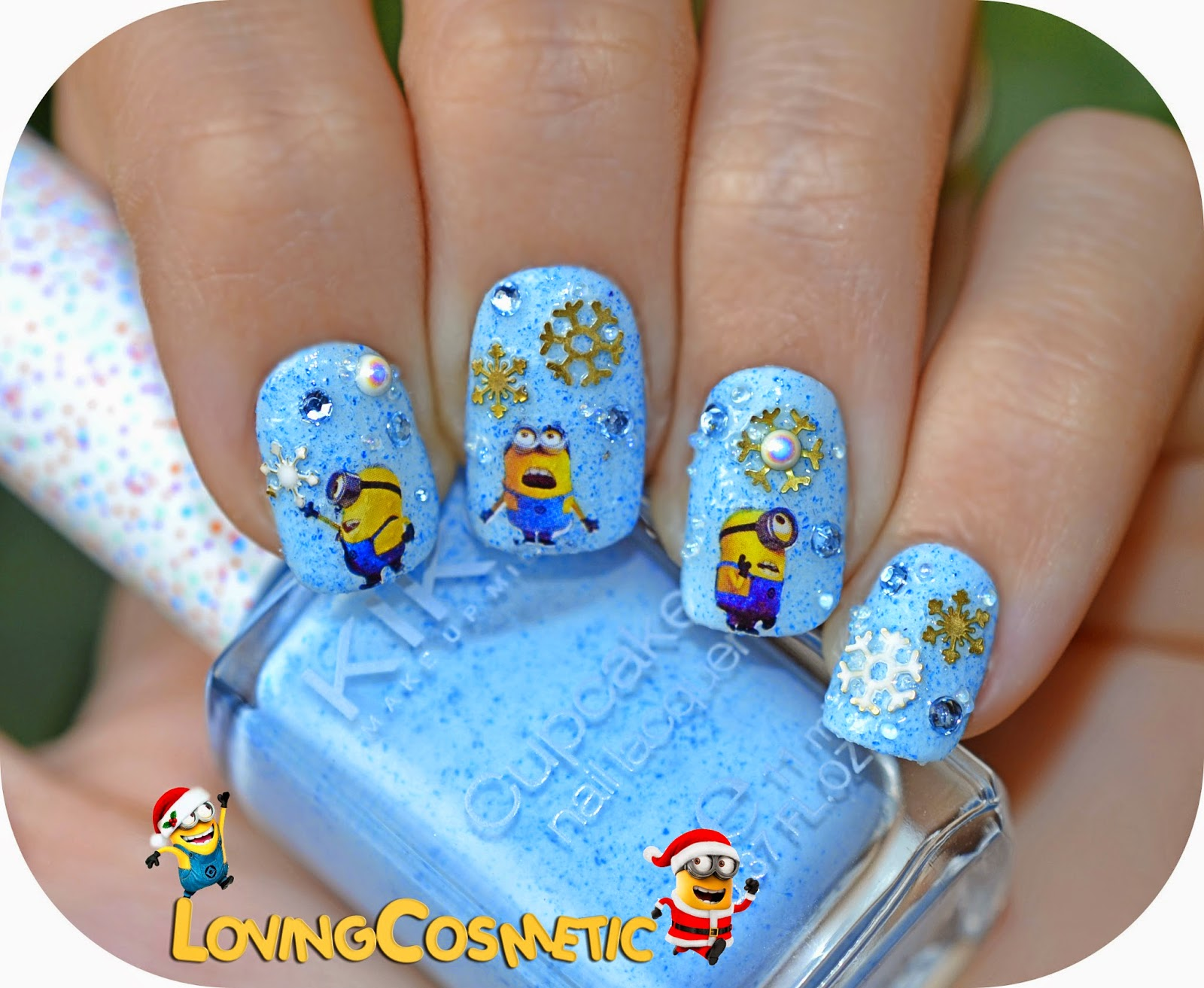 Nail nails nailart art uñas diseño uñas minion minions christmas water decals