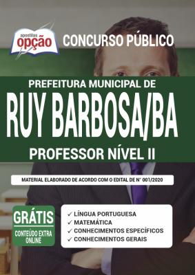 Apostila Concurso Prefeitura de Ruy Barbosa BA 2020 PDF Edital Online Inscrições