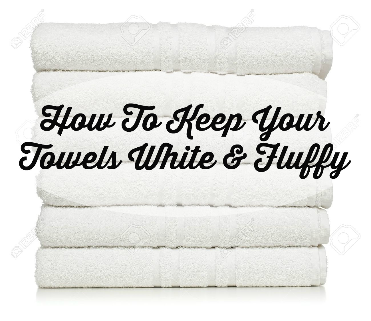 How to keep your white towels fluffy the glam farmhouse for How to keep white towels white