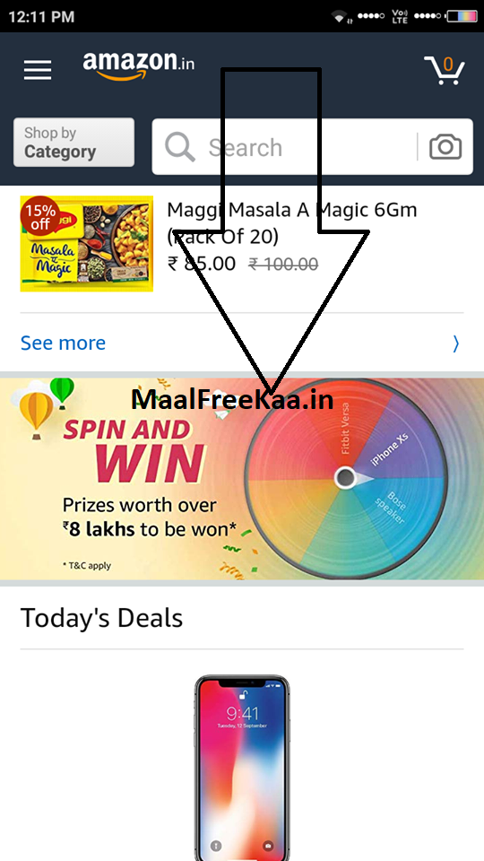 Spin And Win iPhone Xs and Prize Wroth Rs 8 Lakh - Freebie Giveaway