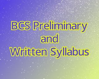 BCS Preliminary and Written Syllabus