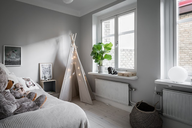 Fantastic atmosphere in scandinavian interior