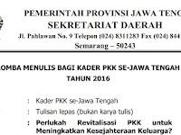 Lomba Menulis bagi Kader PKK Se-Jawa Tengah 2016 Hadial Total Rp 16 Juta