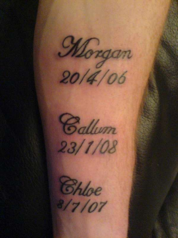 Name Inner Arm Lettering Tattoo Designs