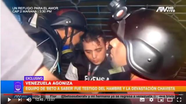 MUNDO: Sale a la luz pública el trabajo que realizaba el reportero Jesús Medina minutos antes de ser detenido en Venezuela. (VIDEO)