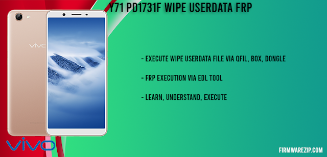 Y71 PD1731F Wipe Userdata FRP QFIL