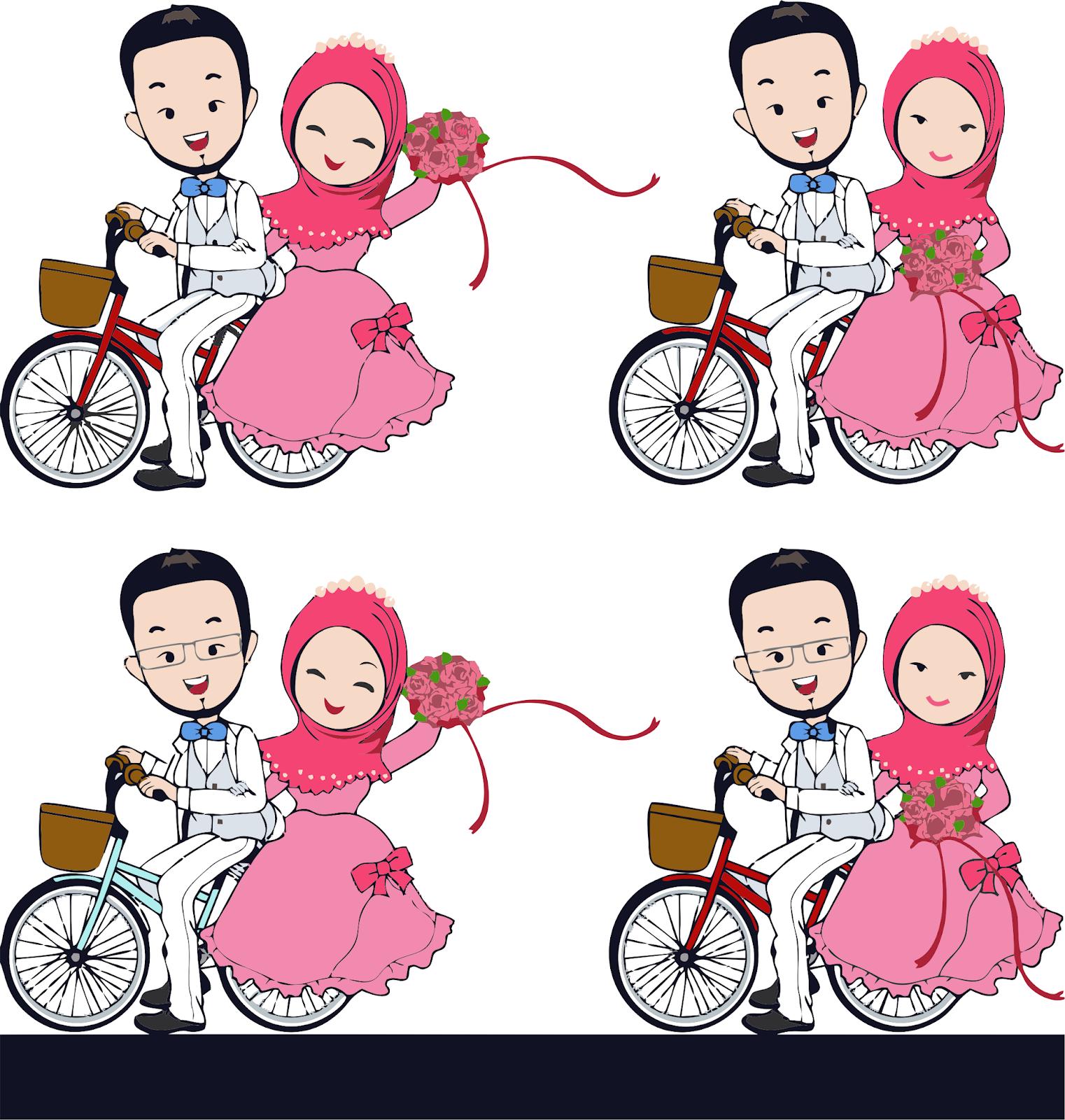 990 Gambar Kartun Muslimah Nikahan Terbaru