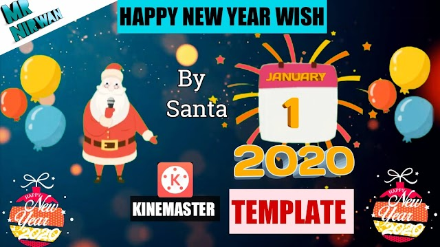 New Year 2020 l Santa wishing Happy New Year l Mr Nirwan l #New_Year l New Year Template 2020