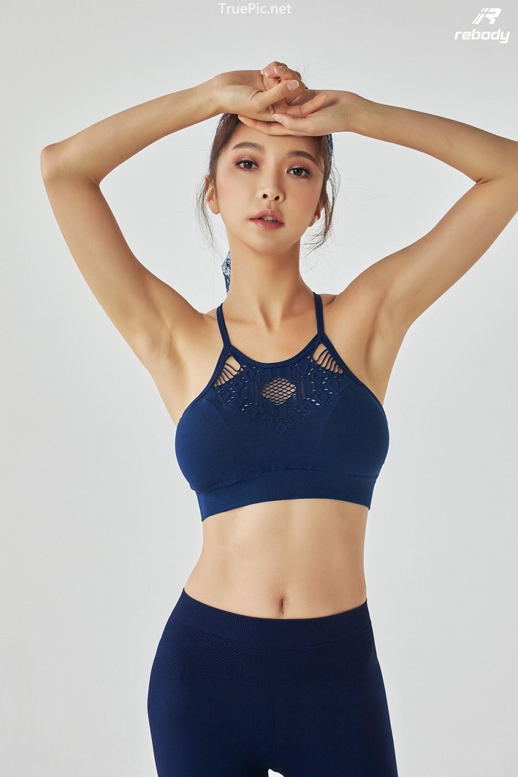 Park Soo Yeon - Sports Bra Fitness Set - Korean fashion model - Picture 2
