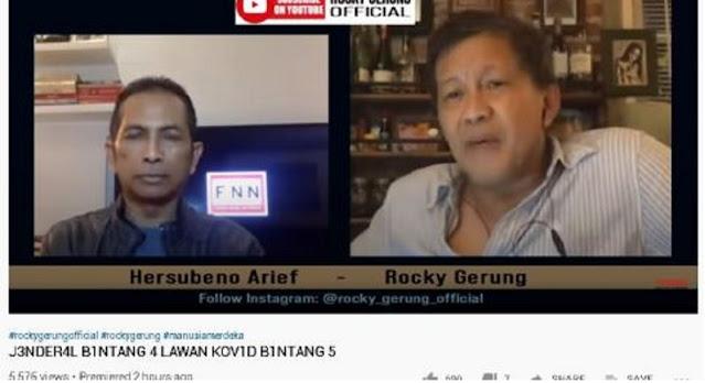 Rocky Gerung Sindir Luhut: Dia Jenderal Bintang 4 tapi Covid-19 Bintang 5