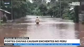 Fortes chuvas causam enchentes no Peru