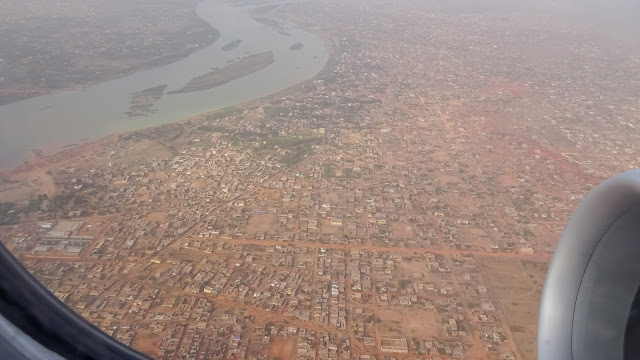 View from plane over whole Bamako