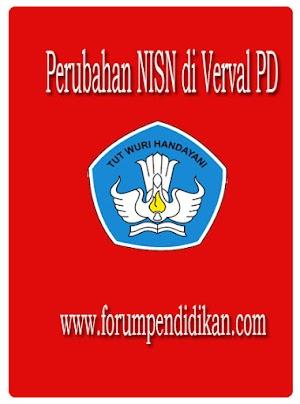 Perubahan NISN di Verval PD