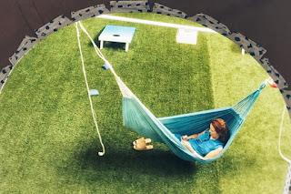Lawn hammock - National Building Museum